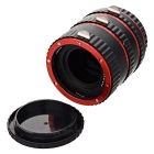 31mm / 21mm / 13mm AF Auto Focus Macro Extension Tube Set for Canon Camera - Black + Red