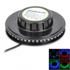 ZnDiy-BRY Mini-LED 8W 48-LED RGB Round Stage Light Plate - Schwarz (90-240V)