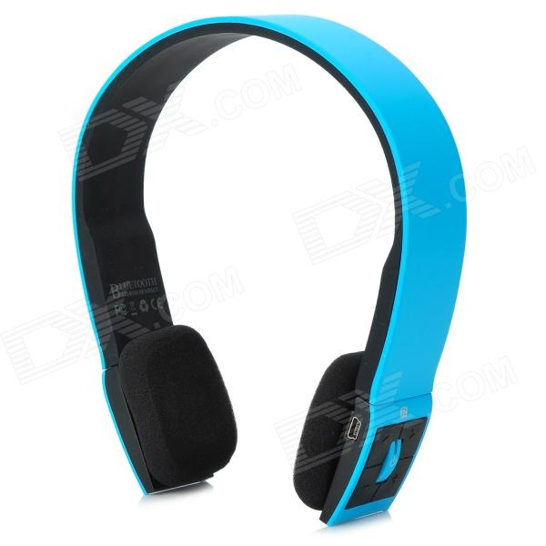 BH-02 Wireless Bluetooth v3.0 + EDR Stereo Headphones - Blue + Black high quality kl audio 12 channel 8 x 4 channel 50 pro audio low profile stage box snake cable 8x4x50