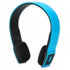 BH-02 Wireless Bluetooth v3.0 + EDR Stereo Headphones - Blue + Black