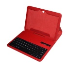Wireless Bluetooth V3.0 78-Key Keyboard w/ PU Leather Case for Samsung Galaxy Tab 3 P5200 - Red