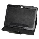 V3.0 Bluetooth Wireless Keyboard w / caja de cuero 78-Key para Samsung Galaxy Tab P5200 3 - Negro
