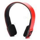 BH-02 Wireless Bluetooth v3.0 + EDR Stereo Headphones - Red + Black