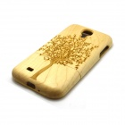 ZY-115 Big Tree Pattern Detachable Protective Wooden Back Case for Samsung Galaxy S4 i9500 - Wood
