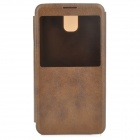 Protective PU Leather Case for Samsung Galaxy Note 3 - Coffee