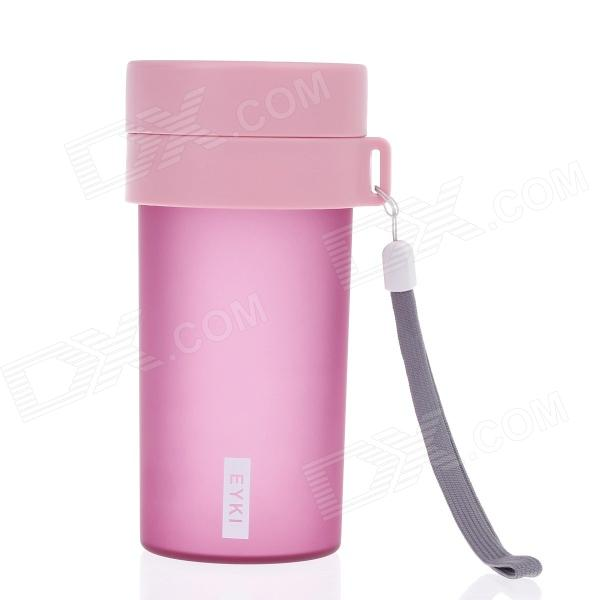 EYKI H5005 High-quality Leak-proof Frosted Bottle w/ Filter - Pink (360mL)