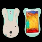 Rabbit Style Protective Silicone Back Case for Samsung Galaxy Note 3 - Light Green + Pink + White