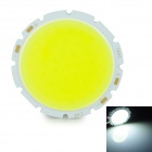 20W 2000lm 6000K COB LED White Light Module - Silver + Yellow (32-36V)