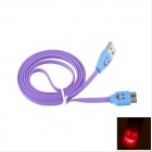 LED Smile Face Pattern Micro USB 9-Pin Male to USB 3.0 Male Cable for Samsung Galaxy Note 3 - Purple