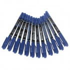 M&G MG-2130 Dual Heads Oil Pen - Blue (12 PCS)