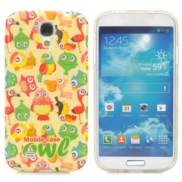 Parrot Pattern Protective TPU Case for Samsung Galaxy S4 i9500 - Multicolored protective cute spots pattern back case for samsung galaxy s4 i9500 multicolored
