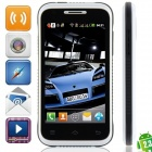 "009 Android 2.3.6 GSM Bar Phone w/ 4.0"", Quad-Band, FM and Wi-Fi - Black + White"