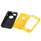 Detachable 3-in-1 Protective Plastic + Silicone Case for Iphone 5C - Yellow + Black