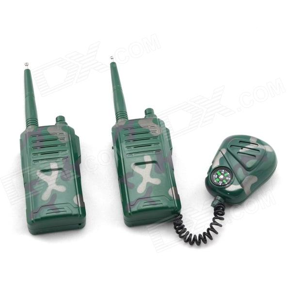 KAIYUE 4W Military Two Way Radio Walkie Talkie w/ Compass - Green (2 PCS / 1 x 9V) Bridgeport Купить вещи