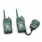 KAIYUE 4W Military Two Way Radio Walkie Talkie w/ Compass - Green (2 PCS / 1 x 9V)