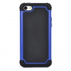 2-in-1 Protective Plastic + Silicone Back Case for Iphone 5C - Black + Blue