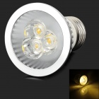 Cnlight 4w 200lm 3500k E27 Warm White LED Spotlight Lamp - Silver