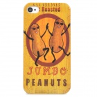 Cute Peanuts Style Protective Plastic Back Case for Iphone 4 / 4S - Khaki