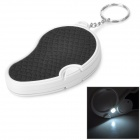 Portable Handheld Folding 5X Magnifier w/ LED White Light - Black + White (2 x CR1620)