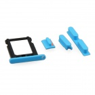 Replacement SIM Card Tray + Volume Button + Mute Button + Switch Button for Blue Iphone 5C - Blue