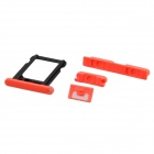SIM Card Tray + Volume Button + Mute Button + Switch Button for Iphone 5C - Fluorescent Red