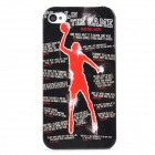 Playing Basketball Pattern Plastic Back Case for iPhone 4 / 4S - Black Red + White