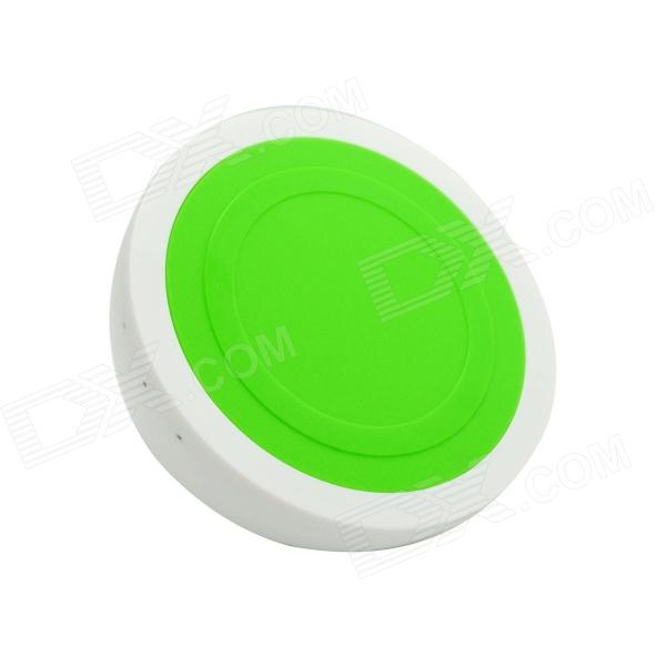 Q8-Qi Standard Mobile Wireless Power Charger - White + Green
