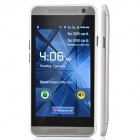 "E19 Android 2.3 GSM Bar Phone w/ 4"", Quad-Band, Bluetooth, Camera - White + Silver"