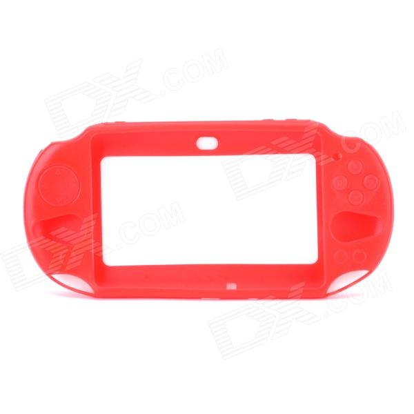 Protective Silicone Cover Case for PS Vita 2000 - Red