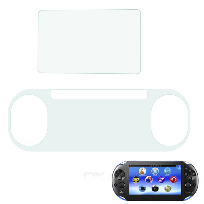 Protective PET Clear Front + Back Films for PS Vita 2000 - Transparent