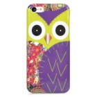 Owl Pattern Stylish Plastic Back Case for Iphone 5C - Multicolored