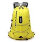 Locallion WH023 Outdoor Nylon Backpack Shoulder Bag - Yellow