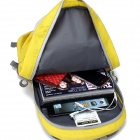 Locallion Outdoor Nylon Backpack Shoulder Bag - Yellow