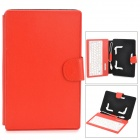 "80 Keys Water Resistant Keyboard Case w/ Stand for Universal 7"" Tablet PC - Red"