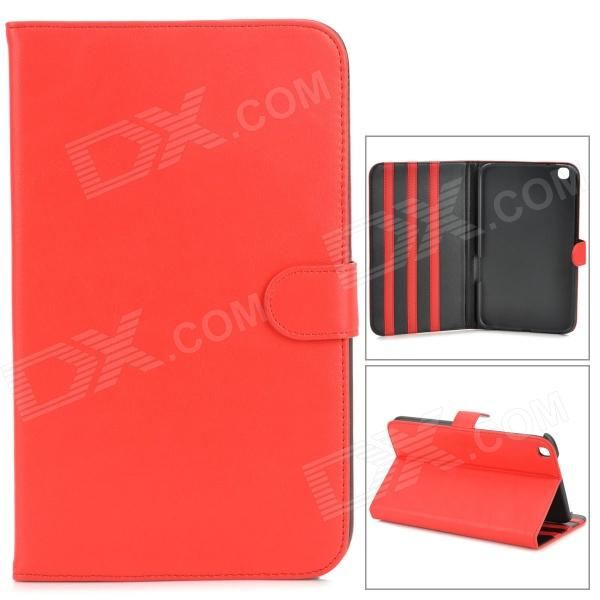 Protective Flip Open PU Leather Case for Samsung Galaxy Tab 3 8.0 (T310) - Red protective pu leather flip open case for samsung galaxy tab3 p5200 red
