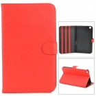 Protective Flip Open PU Leather Case for Samsung Galaxy Tab 3 8.0 (T310) - Red