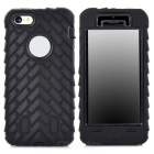 Detachable 3-in-1 Protective Plastic + Silicone Case for Iphone 5C - Black