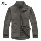 Free Soldier FS-Y14 Outdoor Sharkskin Soft Shell Stand Collar Windproof Commander Jacket - Grey (XL)