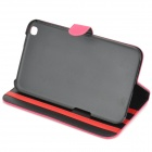 Protective Flip Open PU Leather Case for Samsung Galaxy Tab 3 8.0 (T310) - Deep Pink