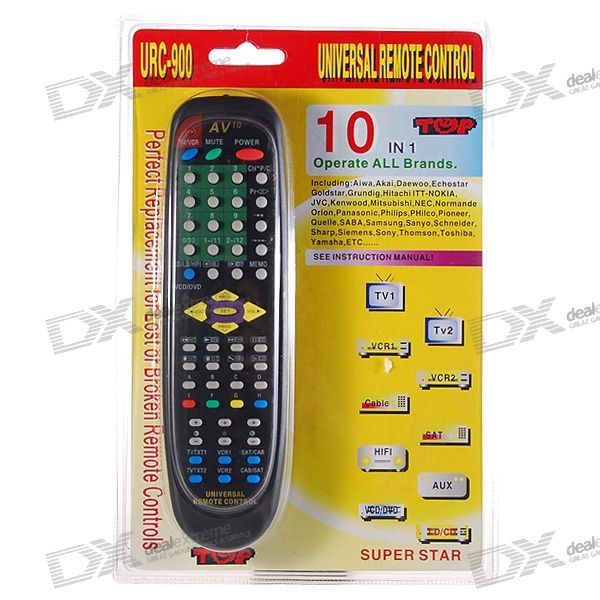 URC-900 Universal TV/VCR/HiFi/DVD/CD/Cable/Satellite Remote Controller