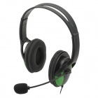 USB Wired Headphones w / Microphone para PS3 / PS3 Slim / PS3 CECH4000 - Verde + Preto