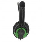 USB Wired Headphones w/ Microphone for PS3 / PS3 Slim / PS3 CECH4000 - Green + Black