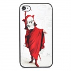 Cool Skeleton Style Protective PC Back Case for Iphone 4 / 4S - White + Red + Black