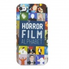 Graffiti Style Protective Plastic Back Case for Iphone 4 / 4S - Dark Blue + Multicolor