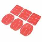 XIANG ZHI Y-ST-14 3M Adhesive Tapes for GoPro Hero 1 / 2 / 3 / SJ4000 - Red + White (6 PCS)