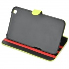 Protective Flip Open PU Leather Case for Samsung Galaxy Tab 3 8.0 (T310) - Yellow