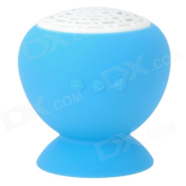 MP-05 Portable 3W 2-CH Bluetooth v2.0 Speaker w/ Suction Cup - Blue + White