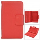 58 Keys Wireless Bluetooth V3.0 Keyboard Case for Google Nexus 7 II -  Red