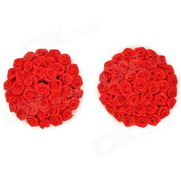 Stylish Sexy Rose Style Women's Nipple Sticker Pasties - Red (2 PCS)