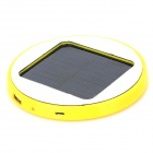 HX-10 Universal Round 5V 1800mAh Li-ion Polymer Battery USB Solar Power Charger - Yellow + White